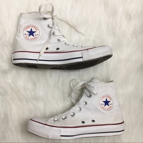 size 5 white converse high tops - 54